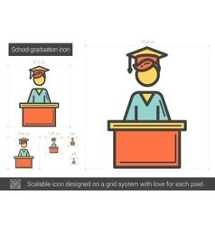 School graduation line icon vector image vector image