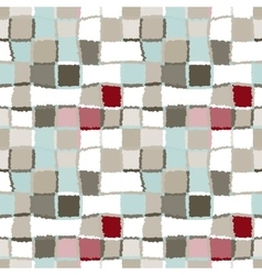 Seamless geometric mosaic checked pattern vector