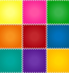 Seamless patchwork or quilt vector image