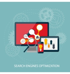 Search Engines Optimization Concept vector image vector image