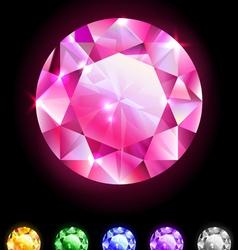 Set of geometric icons round diamonds vector