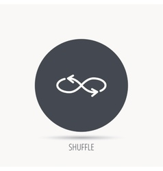 Shuffle icon Mixed arrows sign vector image