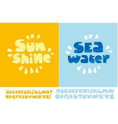 Sunshine and seawater summer text poster vector