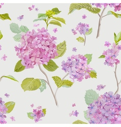 Vintage Floral Lilac Background - seamless pattern vector image vector image