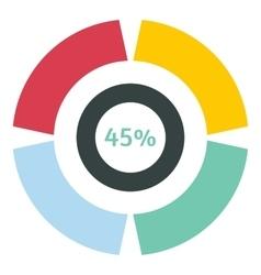 Web preloader 45 percent icon flat style vector