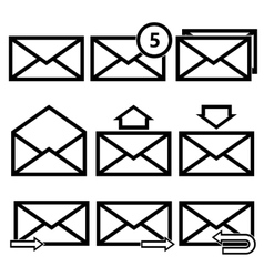 Email symbol letter icon - vector