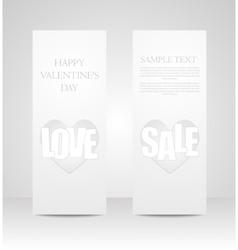 Set of banners valentines day eps 10 vector