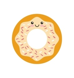 Donut kawaii character isolated icon vector