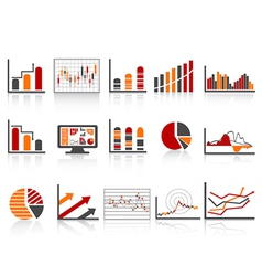 Simple color financial management reports icon vector