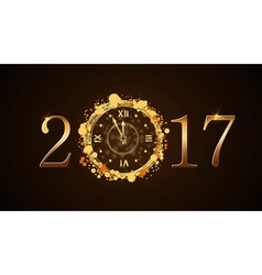 Happy new year clock vector