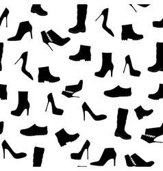 Shoes Silhouette Seamless Pattern Background vector image