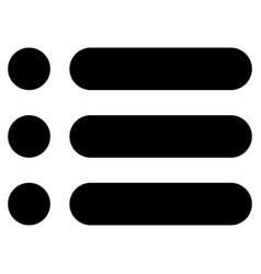 List the black color icon vector