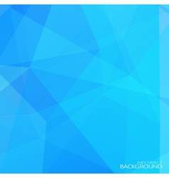 Abstract blue polygonal background with halftone vector
