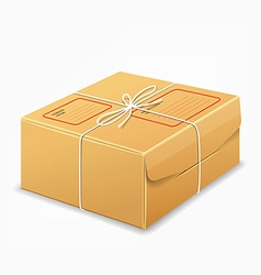 Parcel boxes brown box design background vector