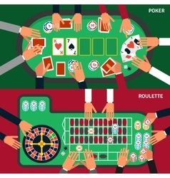 Casino game banner set vector