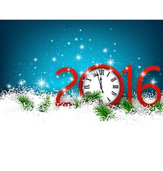 New year 2016 background with clock vector