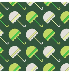 Seamless background with umbrellas vector
