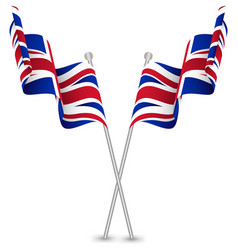The united kingdom uk waving flag vector