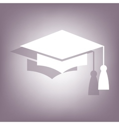 Mortar board or graduation cap icon vector