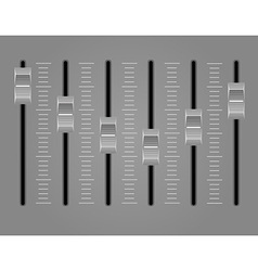 Panel console sound mixer 02 vector