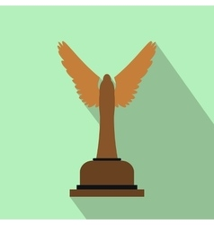 Goblet flat icon with shadow vector
