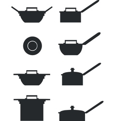 Pan set 01 vector image