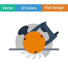 Flat design icon of circular saw vector