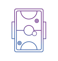Air hockey design vector