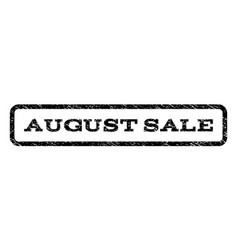 august sale watermark stamp vector image
