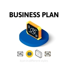 Business plan icon in different style vector image
