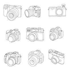 camera 1 vector image