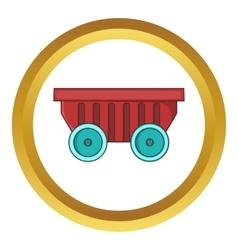 Cart on wheels icon vector