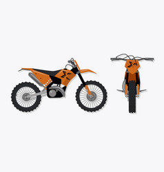cartoon motocross motorbike vector image