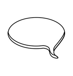 contour round chat bubble icon vector image
