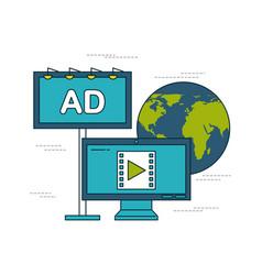 digital marketing images vector image
