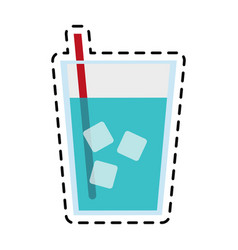 Glass of water icon image vector
