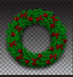 green branch of spruce in the form of a christmas vector image