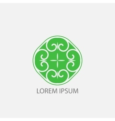 green geometrical symbol or logo for vector image vector image