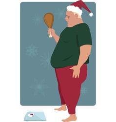 Holiday overeating vector image vector image