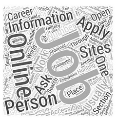 Jh job hunting online word cloud concept vector
