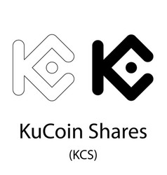 Kucoin shares black silhouette vector