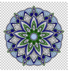 mandala on transparent background vector image vector image