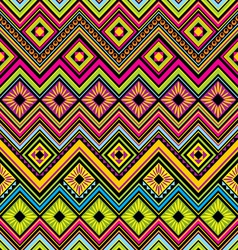 mexican seamless zigzag background vector image vector image