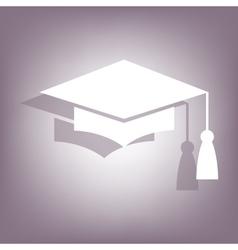 Mortar board or graduation cap icon vector