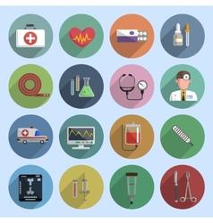 Multicolored medicine icon flat vector image vector image