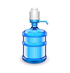 office water bottle with pomp isolated on white vector image vector image