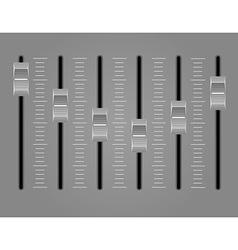 Panel console sound mixer 02 vector