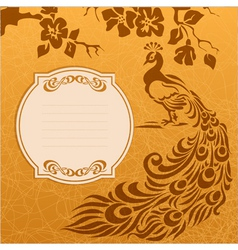 Peacock grunge background vector image vector image