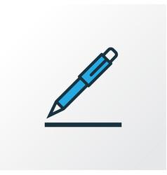 Pen colorful outline symbol premium quality vector