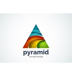 Pyramid logo template triangle cycle concept vector image